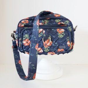 NWT Lug Carousel Blue Floral RFID Travel Bag